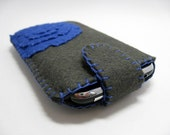 Blue Flower Felt iPhone/iPod Case