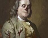 Zombie Benjamin Franklin 8.5x11
