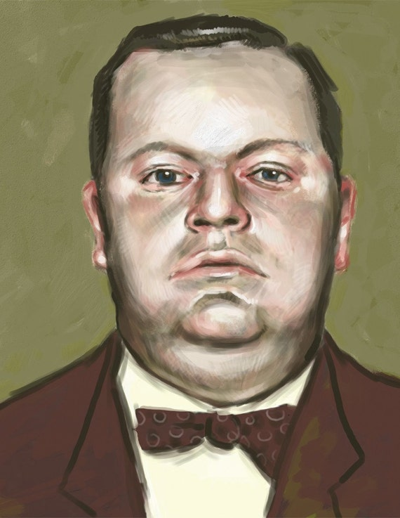 Fatty Arbuckle Mugshot 8.5x11