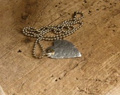 Mixed metal heart necklace.