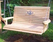 Wooden Porch Swing- Free Shipping