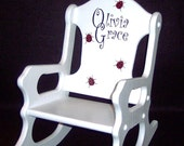 Personalized  Toddler Rocking Chair - Ladybugs