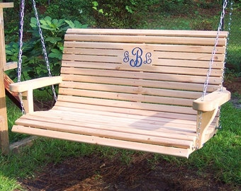 wooden porch swing free shipping
