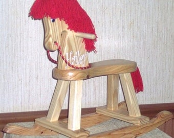 Personalized Toddler Wooden Horse (Tickle Me Elmo inspired)