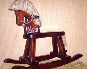 Wood Rocking Horse-Vintage
