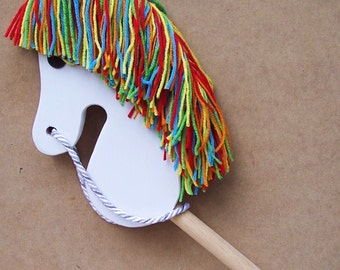 Broomstick Horse: - Broom Stick Horse - Rainbow Brite
