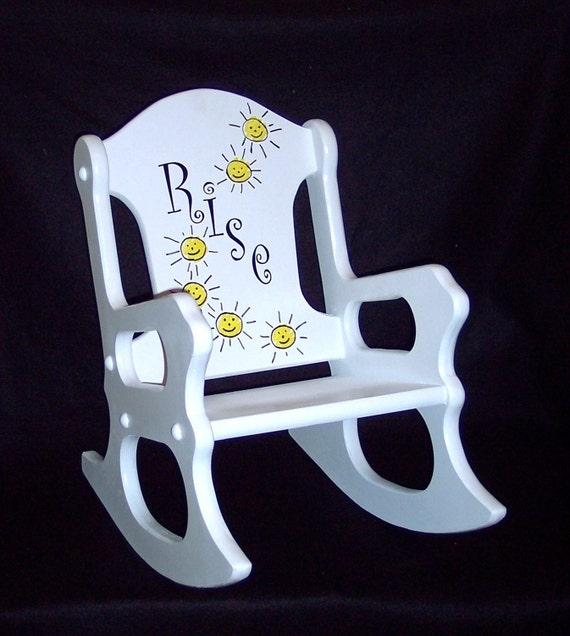 Hand Painted Childs Rocking Chair