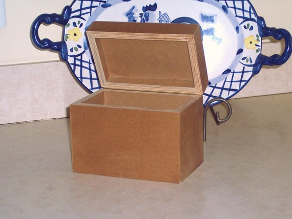 Wooden Recipe Box with tab dividers