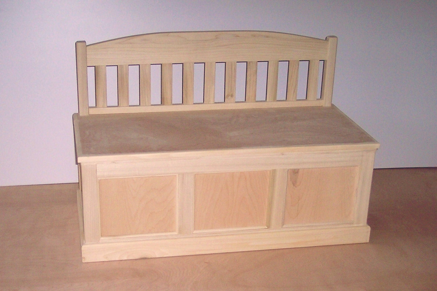 Wooden Toy Chest unfinished by weaverwood on Etsy