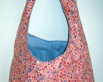 Peace Sign Reversible Tote Bag