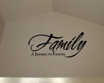 Family A Journey To Forever Vinyl Decal