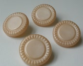 Vintage 60s Large Pearlescent Rose Buttons