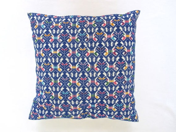 Folk Art Embroidered Patterned Pillow