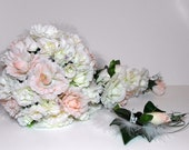 SALE---Blush Bouquet with Boutineer