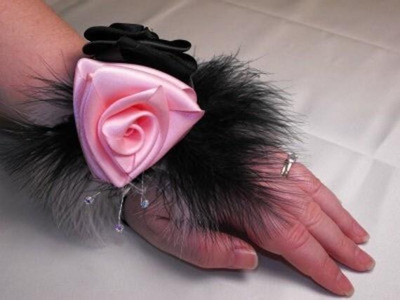 Keepsake Corsage Two-Tone Pink and Black Erotica