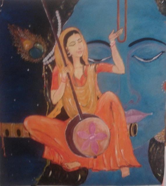 Meerabai Painting Meerabai, original oil