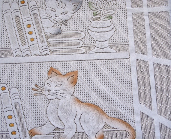 Cat Lace Curtain French Lace Curtain Cafe Curtains