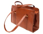 Tabby, French Vintage, Amber Tan 1950s Mad Men Style Handbag from Paris
