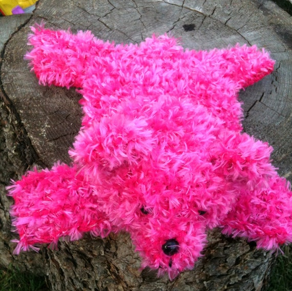 Pink Bear Rug for Small Dolls