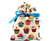 Birthday Gift Bag in Cupcake Fabric