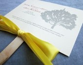 Rustic Fan Programs, Wedding Ceremony Programs, Fan Programs, Wedding Ceremony, Destination Wedding, Yellow, Red and Ivory, - DEPOSIT