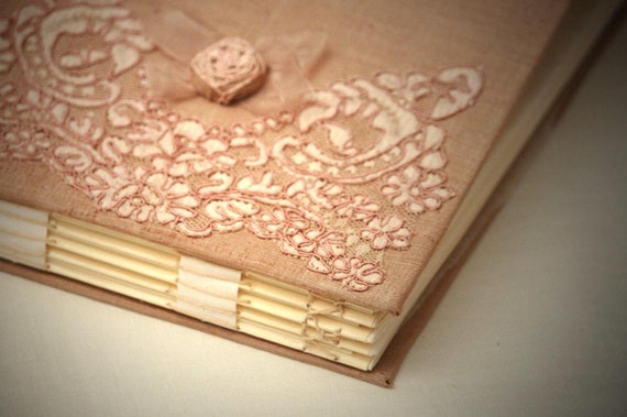 LAST ONE - Personalized Photo Album, Wedding Memory Book, Alencon Lace