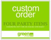 4 (four) Party Items  // Digital File / Custom Design