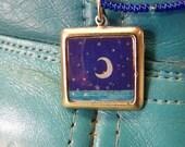 L368 Crescent Moon Pendant Square