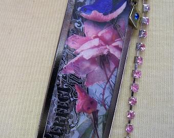 L557 Blue Bird Necklace