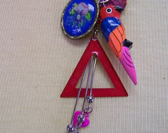 L534 Parrot Charm Necklace