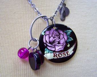 L507 Rose Charm Necklace