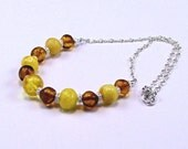 Baltic Amber Sterling Necklace - N355