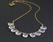 Palest Pink Rose Quartz Necklace - N395