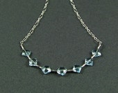 Exquisite Blue Topaz Sterling Silver Necklace - N540