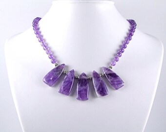 Amethyst & Sterling Silver Necklace - N421