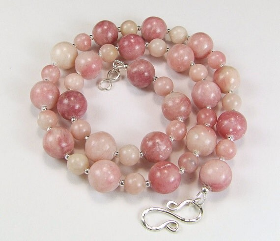 Peruvian Pink Opal & Sterling Silver Necklace - N530