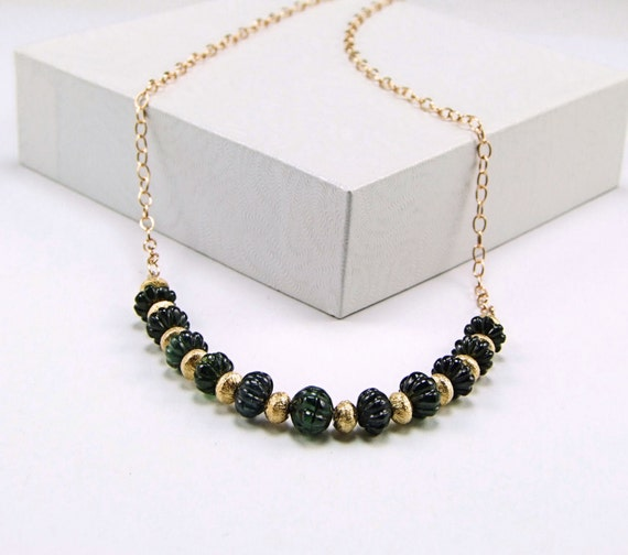 Tourmaline on Vermeil &14k Gold Fill Necklace - N549