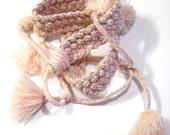 MISSONI tassel belt Designer Accessory Made in Italy parladimoda pale pink bohemian gift artedellamoda