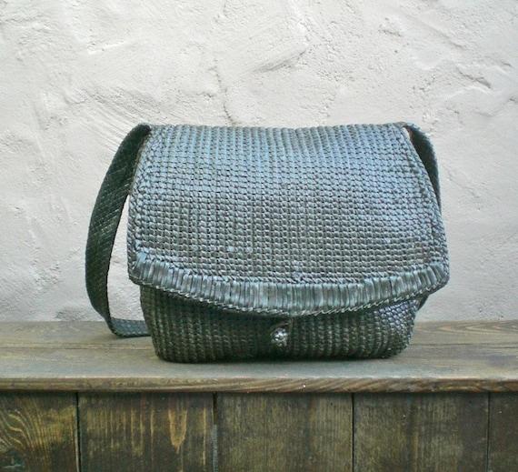 SALE Stunning Olive Green Woven Leather Slouchy Hobo Shoulder Bag by Helen Kaminski