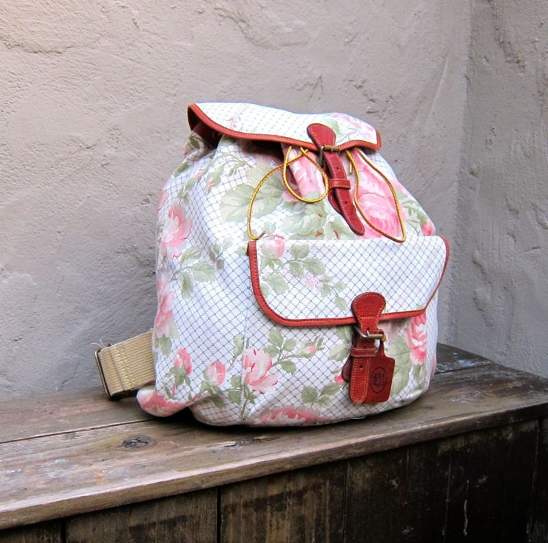Vintage Floral Rucksack Backpack By Laura Ashley