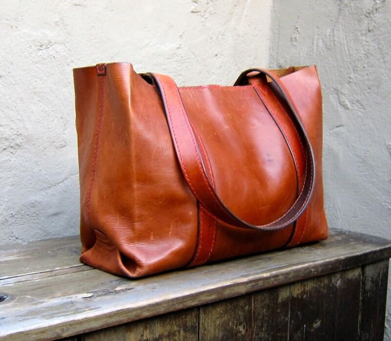vintage henry cuir for barneys new york cognac italian leather. Black Bedroom Furniture Sets. Home Design Ideas