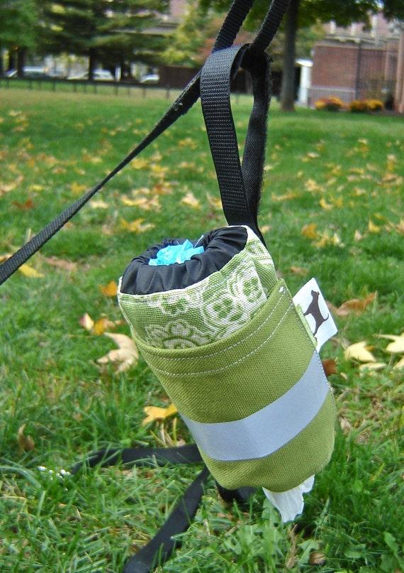Dog Poop Bag, Poop Bag Dispenser, Poop Bag Holder, Dog Waste Bag Holder, Dog Leash Bag, Eco Friendly Dog Bags, Canvas Poop Bag Holder, Reflective, Paisly