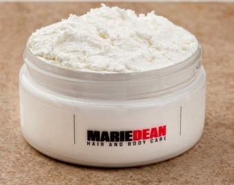 Juicy Mango Double Whipped Hair Butter - Vegan Hair Care Products, Homemade Hair Butter, Sample, Mowrah Butter, Kokum Butter