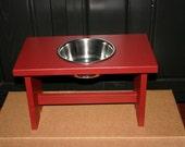 elevated single bowl holder
