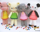 Instant Download PDF amigurumi crochet pattern girlgang ,welcome to sell the finished item-etsy