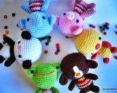 Instant Download PDF amigurumi crochet pattern little friends-etsy