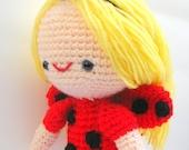 Instant Download PDF  amigurumi crochet pattern lady bug Sofia girl-etsy