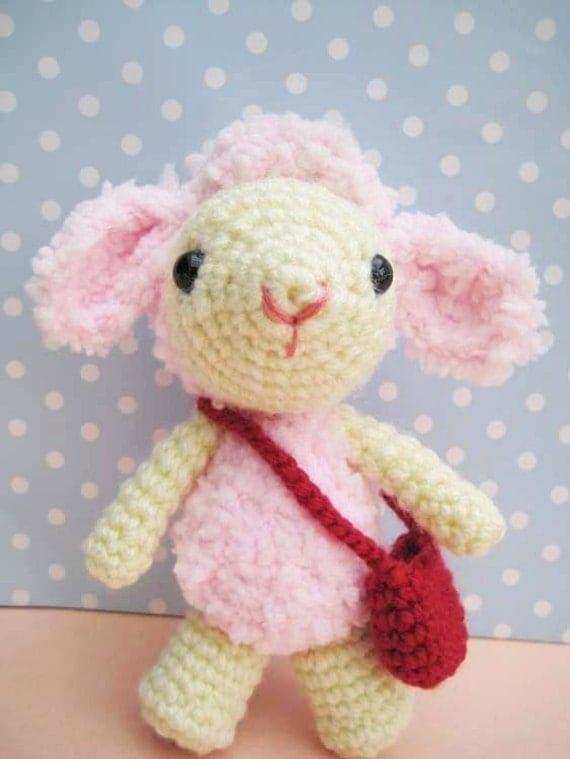 Etsy Amigurumi Sheep : pdf amigurumi crochet pattern sheep lamb-Pinky welcome to