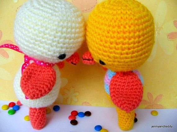 Amigurumi Chicken Pattern : Items similar to Instant Download PDF amigurumi crochet ...