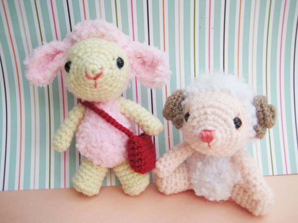 Etsy Amigurumi Sheep : pdf amigurumi crochet pattern lamb sheep by jennyandteddy ...